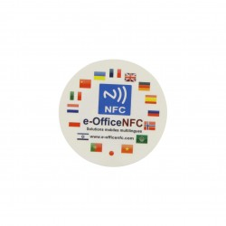 30mm Custom Print Stickers With NTAG216 NFC Chip
