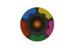 Colorful MF Plus-X 2K RFID Coin Tag