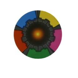 Colores MF Plus-X 2K etiqueta RFID de la moneda