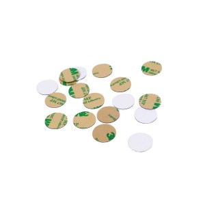 ISO14443 13.56Mhz MF1 S50 RFID PVC Coin Tag Dia 13mm for warehouse management
