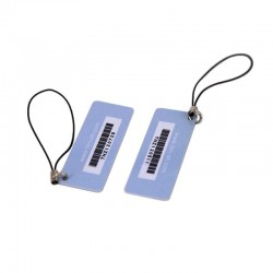 Custom Size NFC NTAG216 Key Tag With Barcode