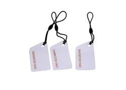 Customized Size ICODE SLI RFID Key Tag With UID Engraved
