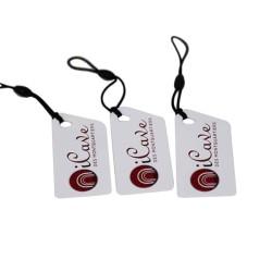 ISO15693 ICODE SLI-X clave etiqueta de RFID con una cuerda elástica negro
