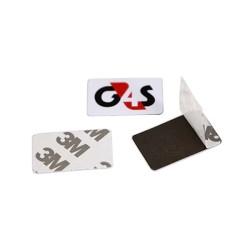NTAG213 de NFC en tarjetas de Metal contra Metal, pegamento adhesivo de 3 MM