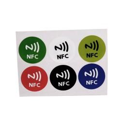 6pcs diámetro 29MM tipo 2 Ntag216 NFC Tag