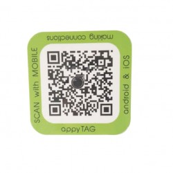 Android NFC 38*38mm Stickers Square Shape NTAG215 NFC Tag scan by mobile