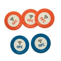 Círculo 25MM Ntag213 NFC la etiqueta, etiqueta engomada de la NFC de HF para imprimir