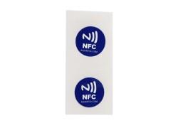 Etiqueta engomada rfid nfc programable de encargo con el microprocesador Ntag213 para el pago móvil