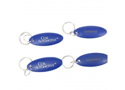 13.56MHz Fudan 1K ABS RFID Key Fobs with laser UID number for access contro