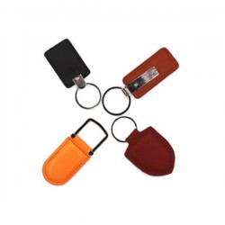 Leather UID programmable rewritable 125 Khz or 13.56Mhz proximity rfid keyfob / key card