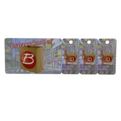 Customized Plastic Combo Card, 3 Key Tags