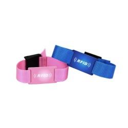 HF Adjustable Fudan F08 Nylon RFID Wristband