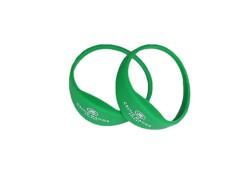High quality RFID waterproof embossed silicone wristband waterproof RFID bracelet