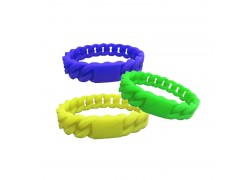 125KHZ TK4100 RFID silicone wristband for access control