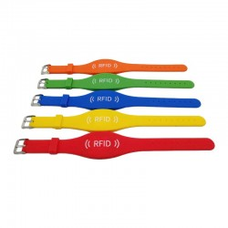 5 Meters Long Range Adjustable RFID Silicone Bracelet Alien H3 UHF Waterproof Wristband