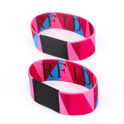 Ntag213 Chip Custom Elastic RFID Wristband For Festival