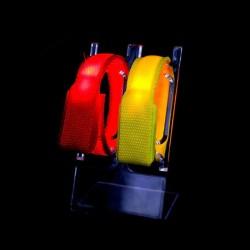 Partido y concierto Linterna vendedora caliente Led pulsera Radio Control Nylon RFID Led pulsera