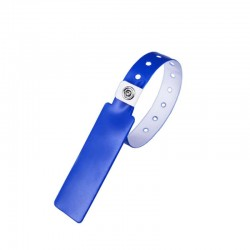 Pure Blue Alien H3 PVC Wristband with Reusable Metal Buckle to Reduce the Cost