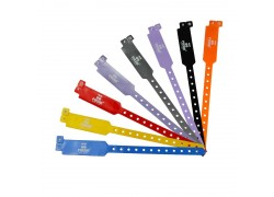 PVC NTAG216 Disposable Wristbands