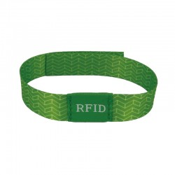 Recycled Woven RFID Bracelet With Button
