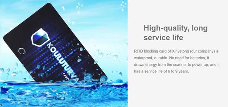 led blocking card