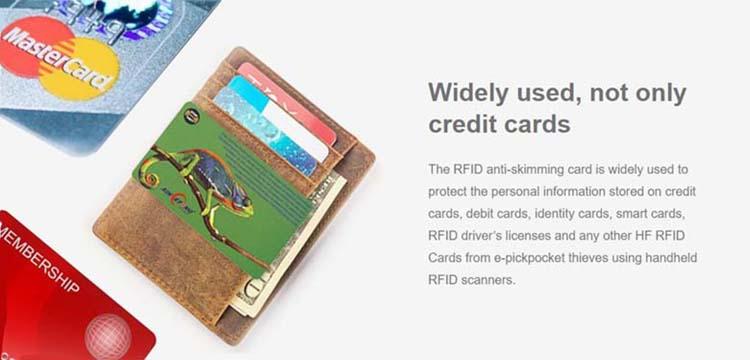 rfid chip blocker card